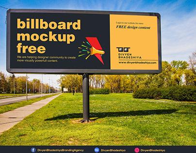 Free PSD - Billboard Mockup 1