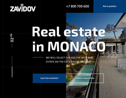 Landing Page Real estate in Monaco