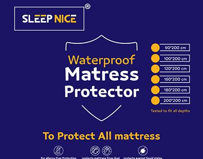 Packaging design - Sleep nice Mattress Protector