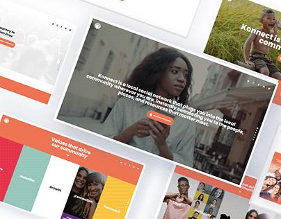 Konnect app - Web Design & Appstore Screenshots