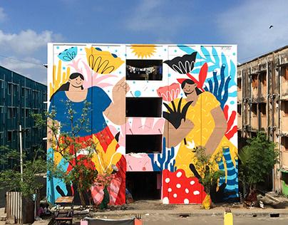 """""""Bloom"""" Mural for St+Art India"""