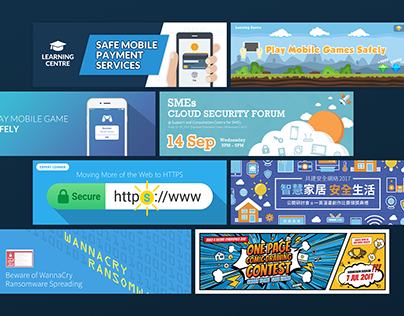 Cyber Security Banner Designs
