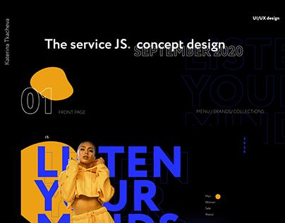 THE SERVICE JS. UI/UX DESIGN 2020