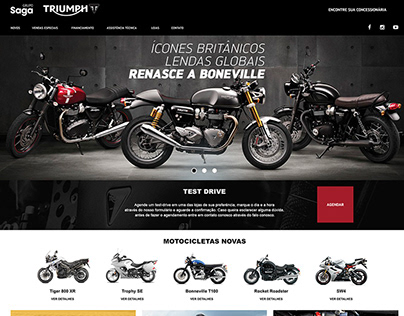 Ui Design with Style Guide for a motorcycle dealer
