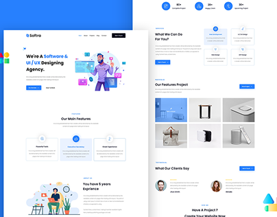 Corporate Business One Page Landing
