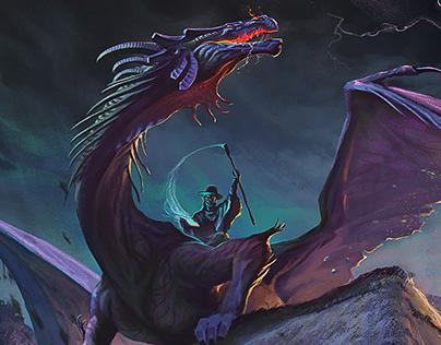 Garaboncias on his dragon back