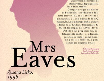 Cartel tipográfico: Mrs Eaves