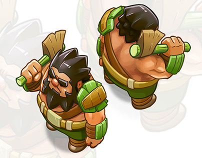 Character concept Isometric