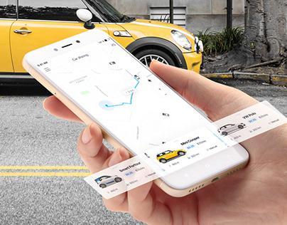 Carsharing app UX/UI design