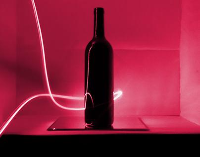 Red line Wine bottle 5-6