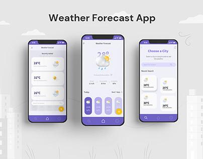 Weather Forecast App concept
