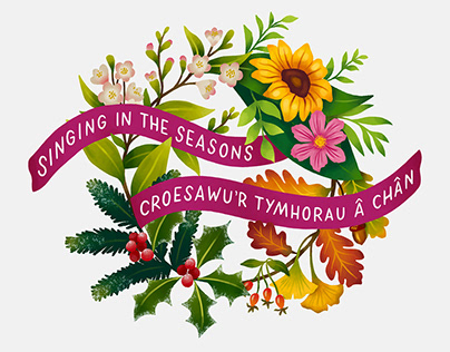 Four Seasons Wreath for Welsh National Opera