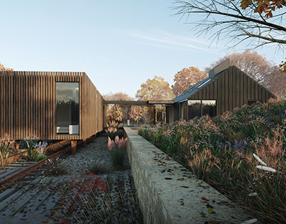 exterior visuals for a project of Station House