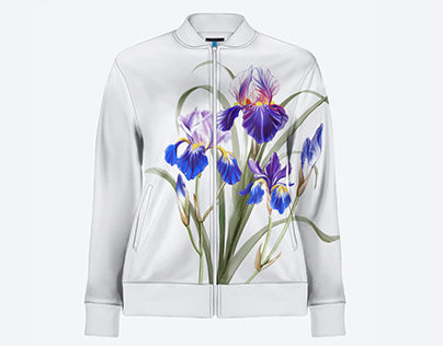 IRISES print for a clothing collection