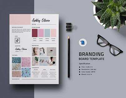 Branding Board Template