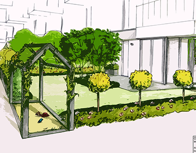 Zabłocie 2018 ogród przy mieszkaniu parterowym