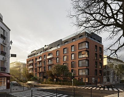 Residential building in France.