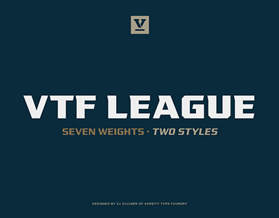 VTF League Typeface