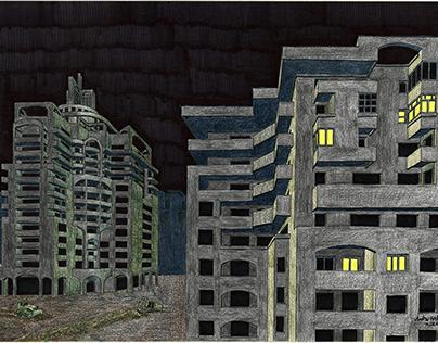 Socialist dystopia by night