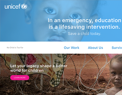 Unicef Website Redesign