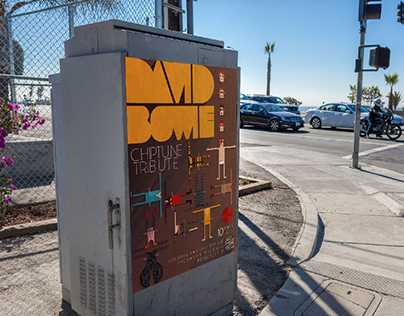 David Bowie Chiptune Tribute Poster