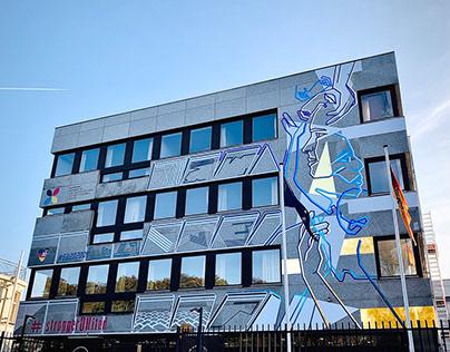 TAPE ART FACADE DESIGN // THE HAGUE // NETHERLANDS
