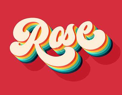VINTAGE ROSE - FREE RETRO TEXT EFFECT