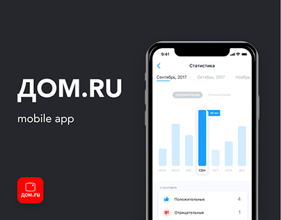 Mobile CRM for DOM.RU | UI/UX