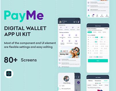 PayMe Digital Wallet App UI KIT