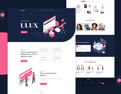Digital agency website template design