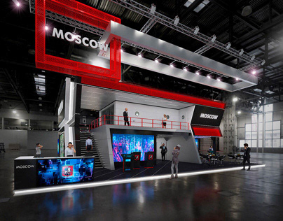 Moscow exhibition stand, 3D MAX