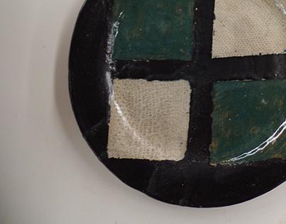 Square Motif stoneware