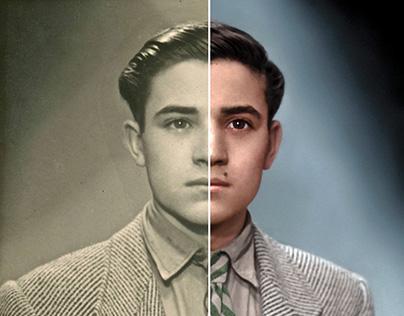 Retrato Época Retocado y Coloreado