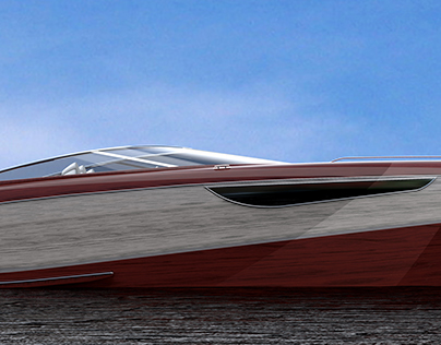 Fusion56 Speedboat from precious wood
