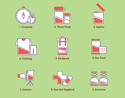 Pictogram-Backpack necessity