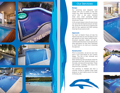 Dolphin Pools Brochure Design
