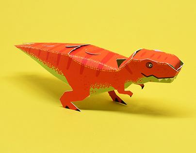 Dinosaur Paper Toys