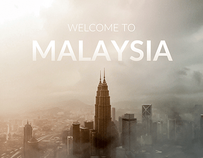 Welcome to Malaysia | Graphic design concept