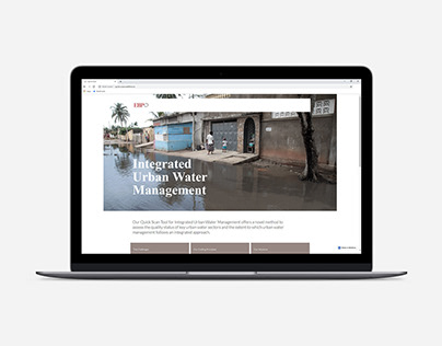 One-Page Website: Quick Scan Tool for water assessment