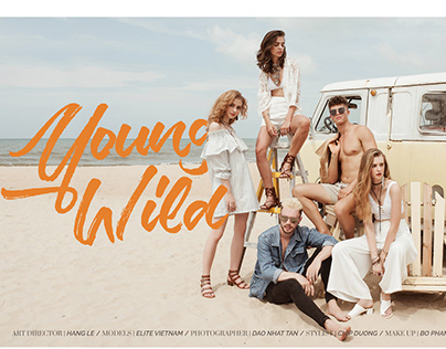 Young Wild lookbook - Layout