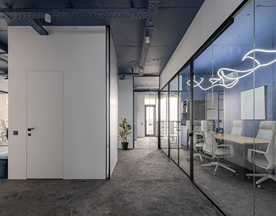 Luxury blue office in the centrum of the Kyiv