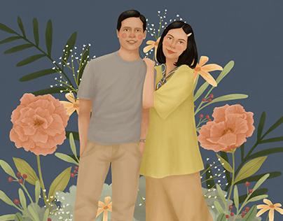 Kintan & Praditya's Portait Illustration