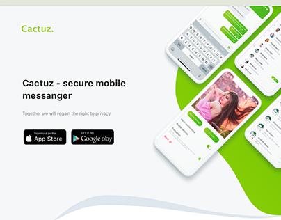 Cactuz-Landing page