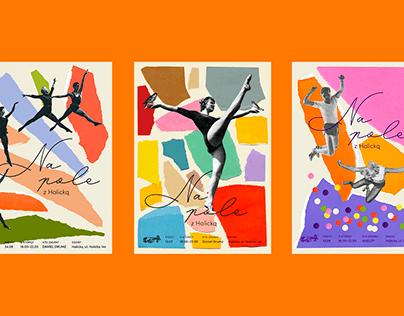 Na pole z Halicką - poster set