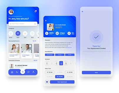 Best Doctor Appointment App UI Design