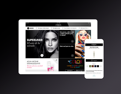 L'Oreal Paris · Spain Mobile Website