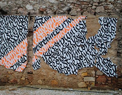 street calligraphy - typography - walls
