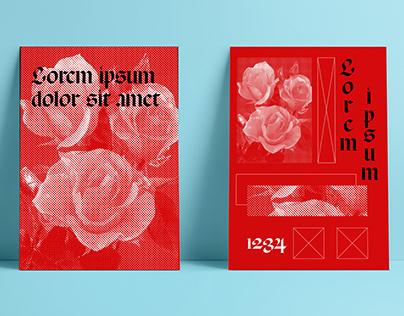 Portadas Lorem Ipsum con rosas