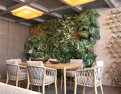 Living Room Full of CGI Plants