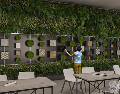 Vertical Garden Design - Material Samples Exhibition